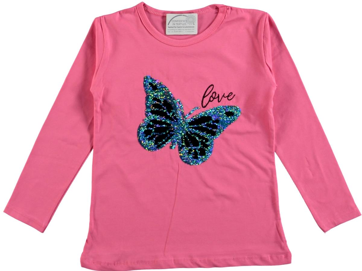 Кофта бабочка 307966 фуксия