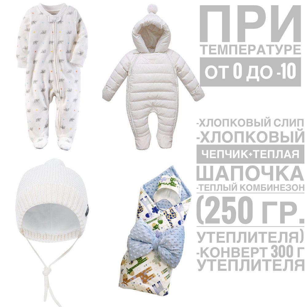 Набор одежды для малыша зимой
