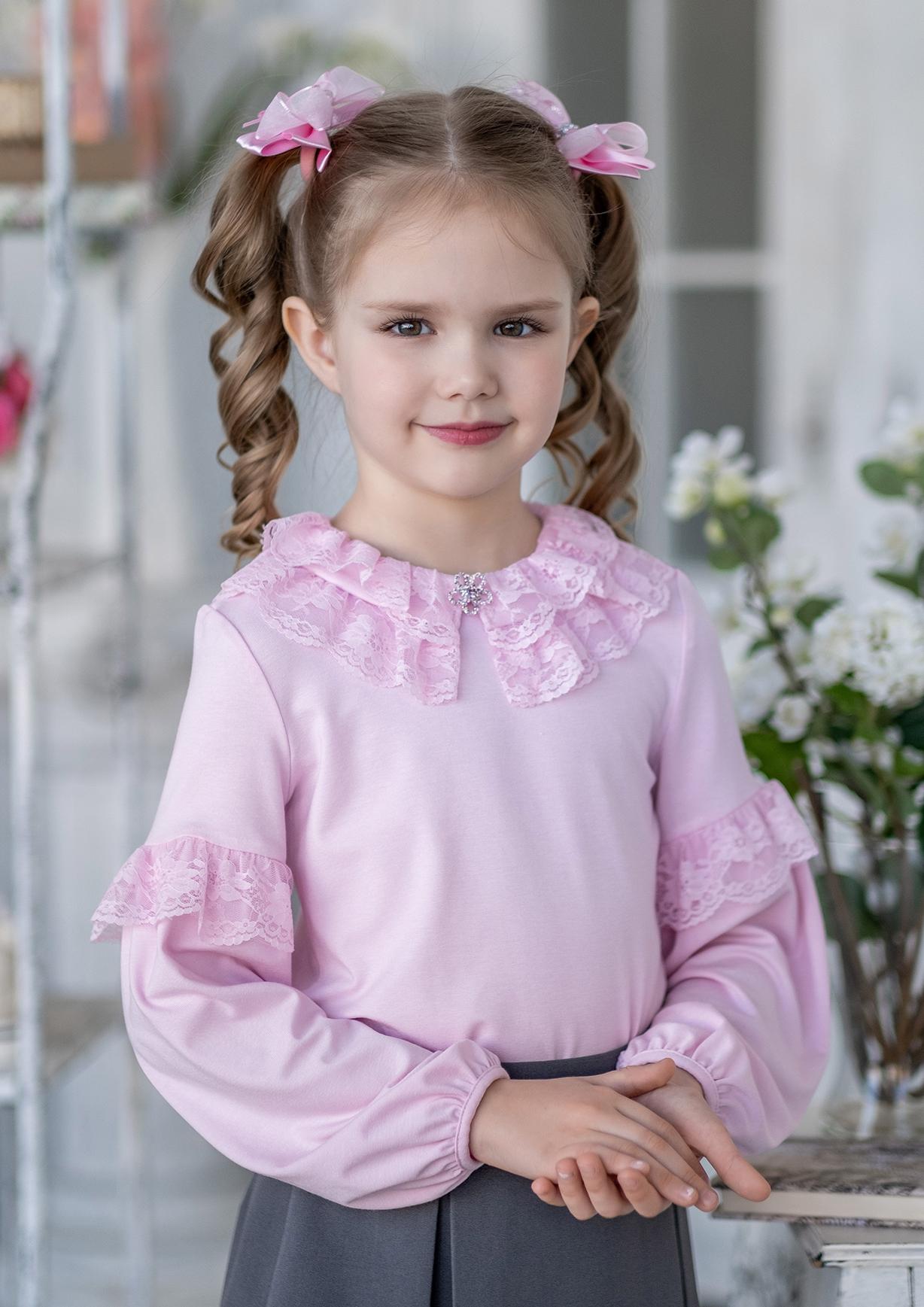 Блузка розовая на девочки