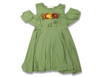 Платье на девочку хаки 5/8 лет 99639