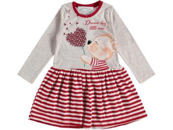Платье в полоску Мишка 2/5 лет красное 317706