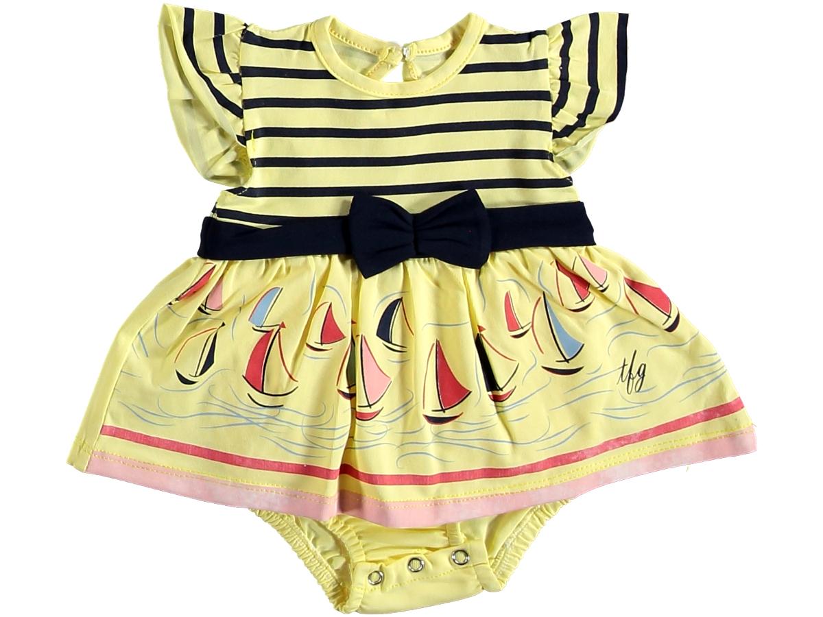 Боди платье морское жёлтое 321440